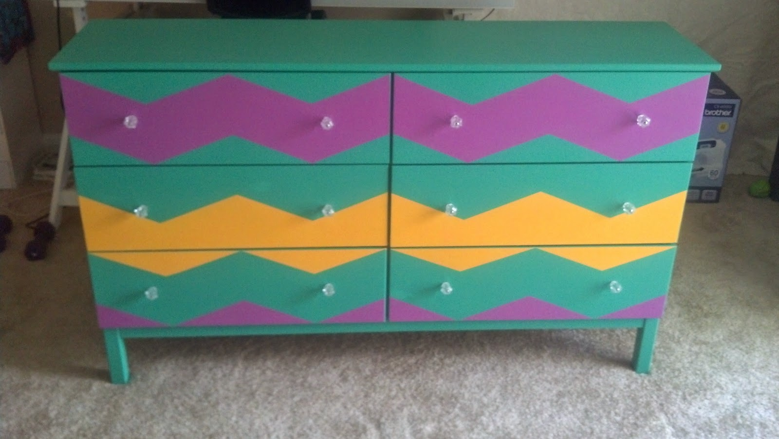 DIY Painted Ikea Dresser