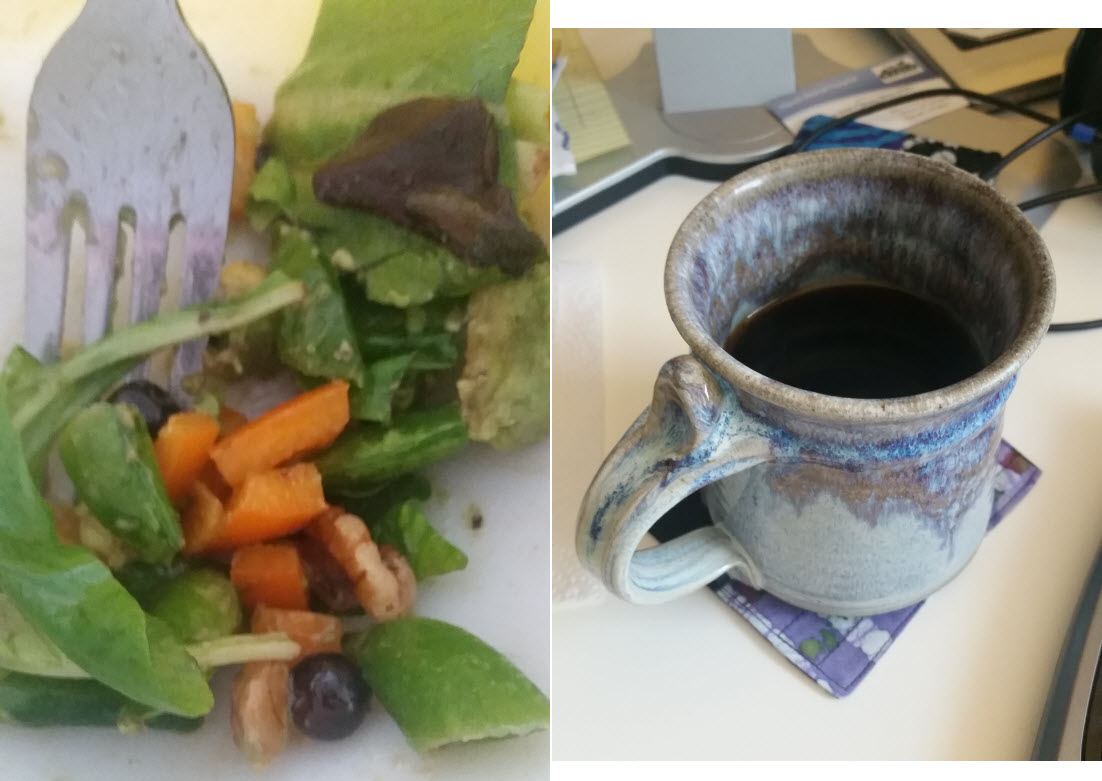 Whole30 Coffee and Salad