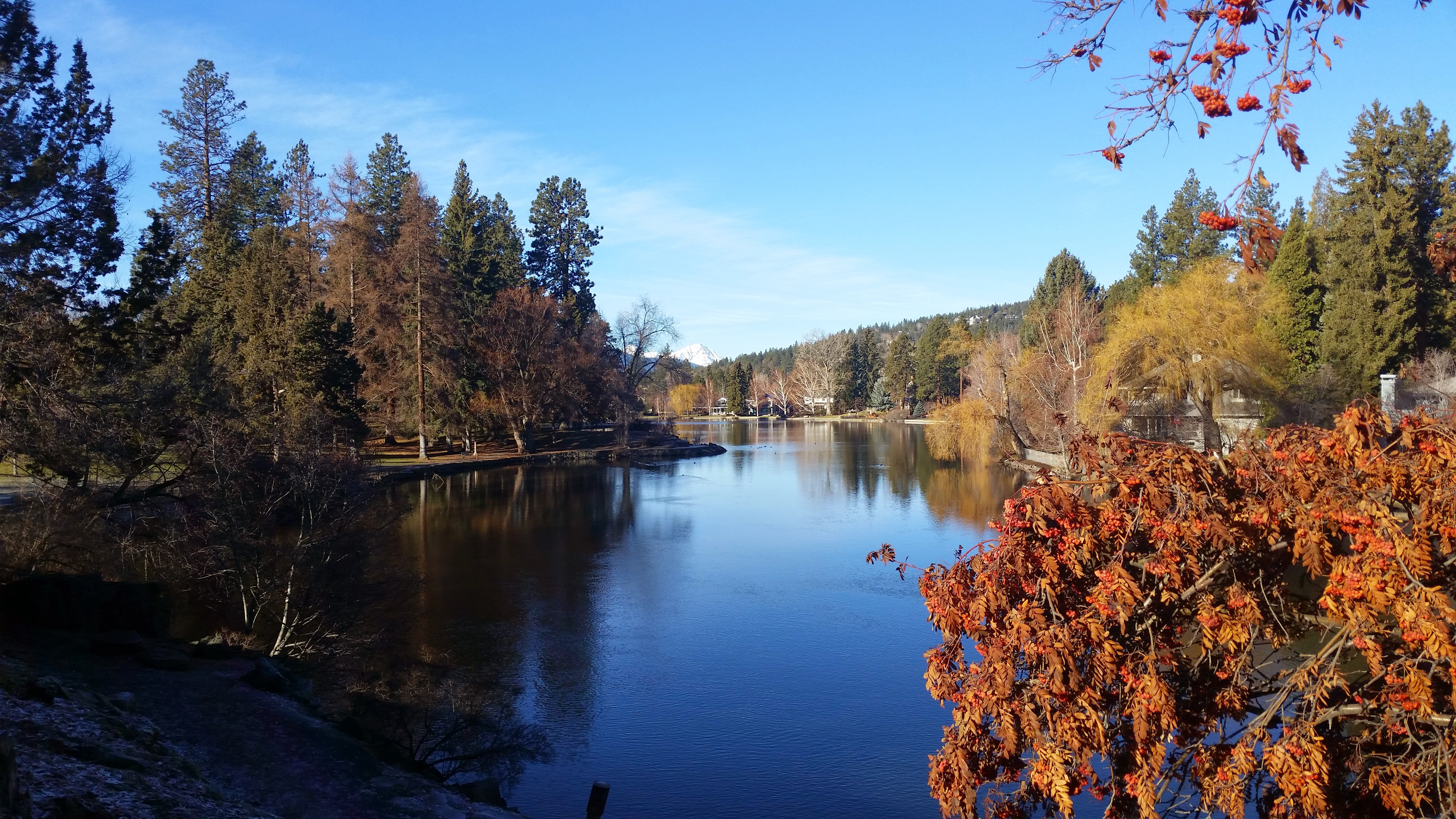 Mirror Pond from Drake Park Bend Oregon